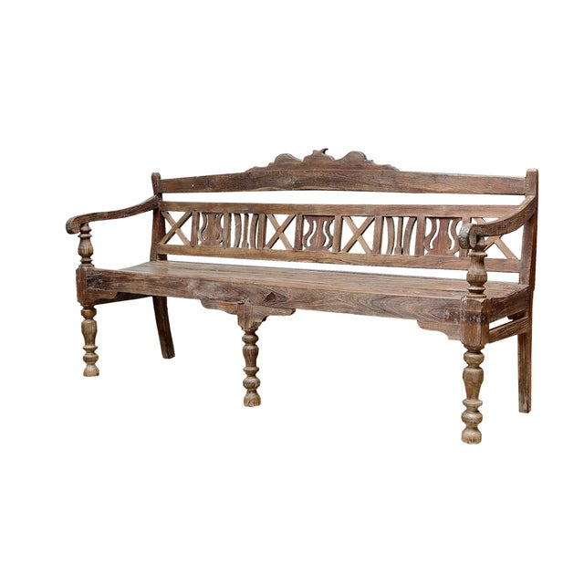 Early 20th-C. Colonial Bench - Image 3 of 9