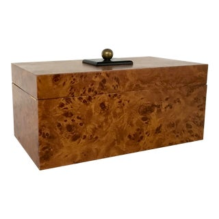 Vintage Burl Wood Box For Sale