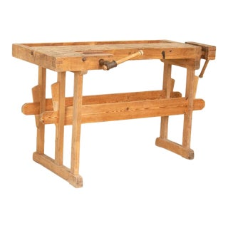 Antique Small Carpenter's Workbench For Sale