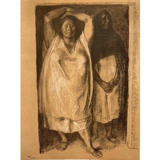 Francisco Zuniga Lithograph 'Umbral' (The Doorway) 1974 For Sale