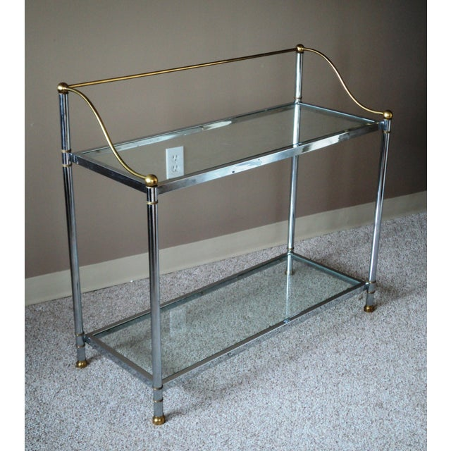 Vintage Chrome & Brass Console - Image 3 of 11