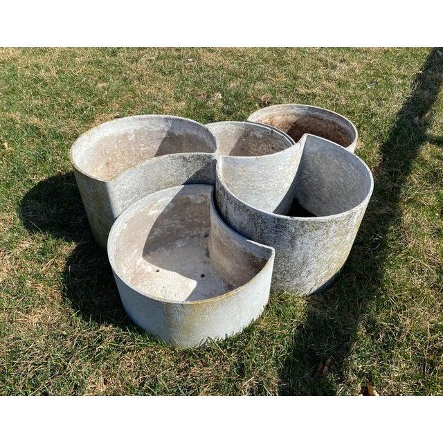 """1970s 1970s """"Luna"""" Fiber Concrete Planters - Set of 5 For Sale - Image 5 of 6"""