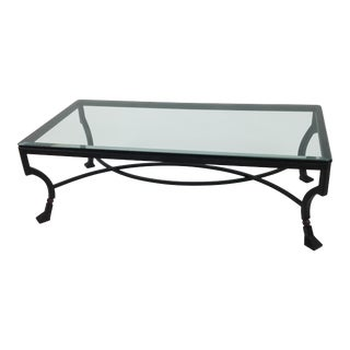 Modern Iron With Glass Top Coffee Table