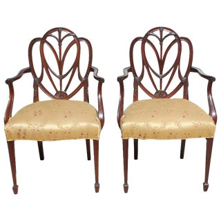 19th Century French Solid Mahogany Chairs- a Pair For Sale