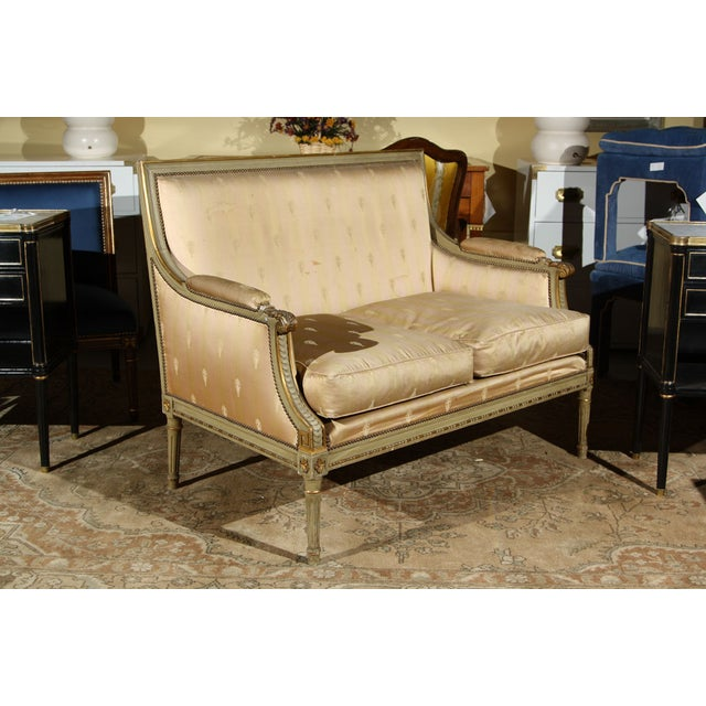 French French Louis XVI Settee by Maison Jansen For Sale - Image 3 of 10