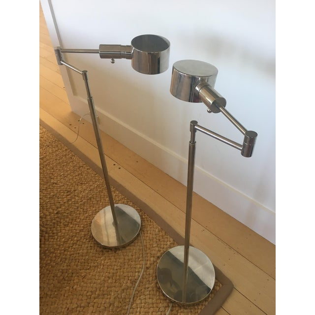 Contemporary Phoenix Day Telescoping Swing Arm Floor Lamps - A Pair For Sale - Image 3 of 5