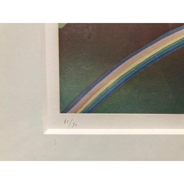 "Modern Original, Hand-Signed, ""Over the Rainbow"" Aquatint Art Etching by Jean-Michel Folon For Sale - Image 3 of 4"