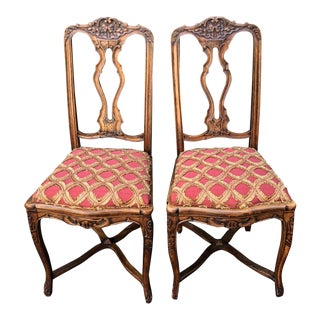 Pair of Antique French Provincial Side Chairs For Sale