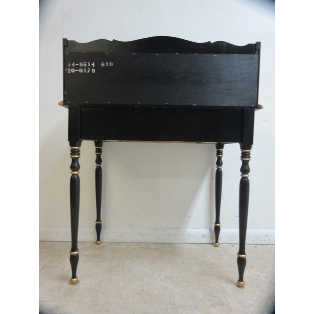 1980s Ethan Allen Hitchcock Paint Decorated Writing Desk For Sale - Image 5 of 10