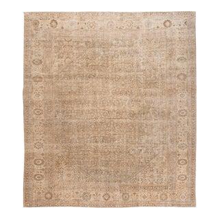 Vintage Mahal Oversize Wool Rug For Sale