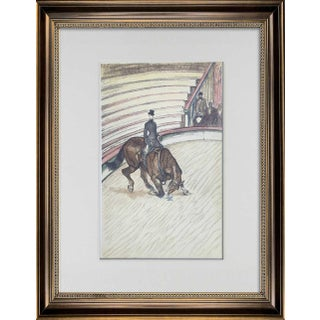 Vintage Henri De Toulouse-Lautrec Numbered Limited Edition Lithograph W/Frame Included For Sale