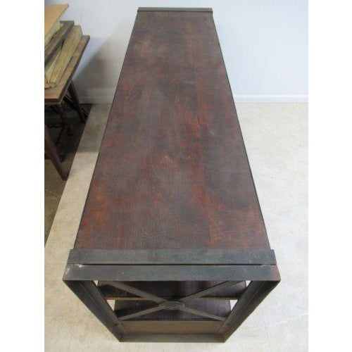Industrial Industrial Reclaimed Steel Console For Sale - Image 3 of 6