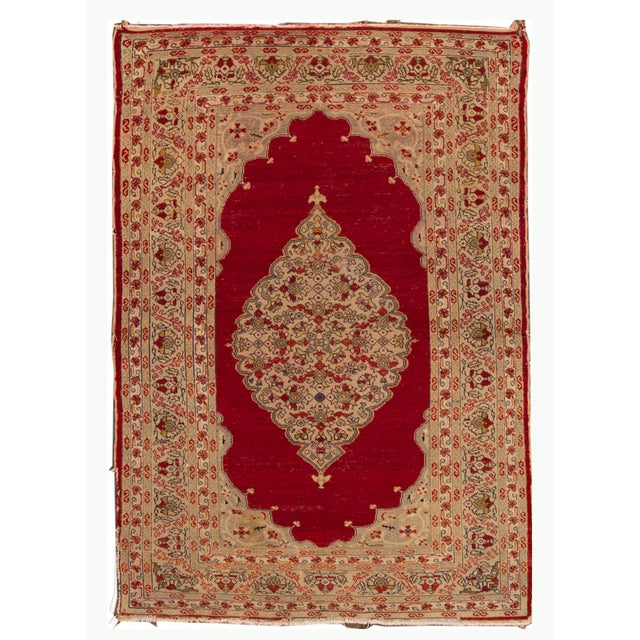 Antique Persian Kerman Rug 3'6'' X 5'2'' For Sale - Image 13 of 13