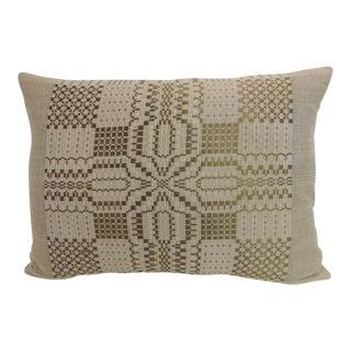 Antique Coverlet Americana Woven Decorative Pillow