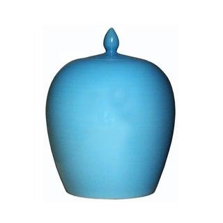 Simple Modern Handmade Plain Pastel Blue Glaze Porcelain Vase Jar Vs012S Navy Blue Preview