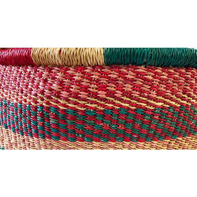 Large African Bolga Ghana Market Basket For Sale - Image 4 of 6