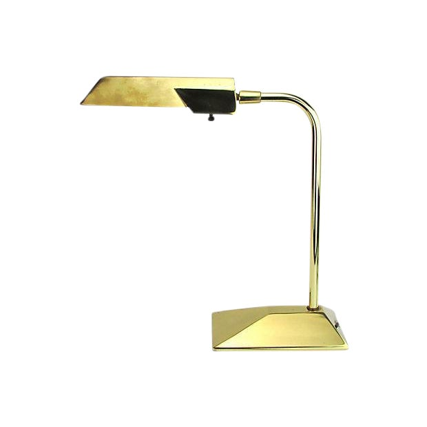 Stiffel Brass Executive Desk Lamp - Image 1 of 5