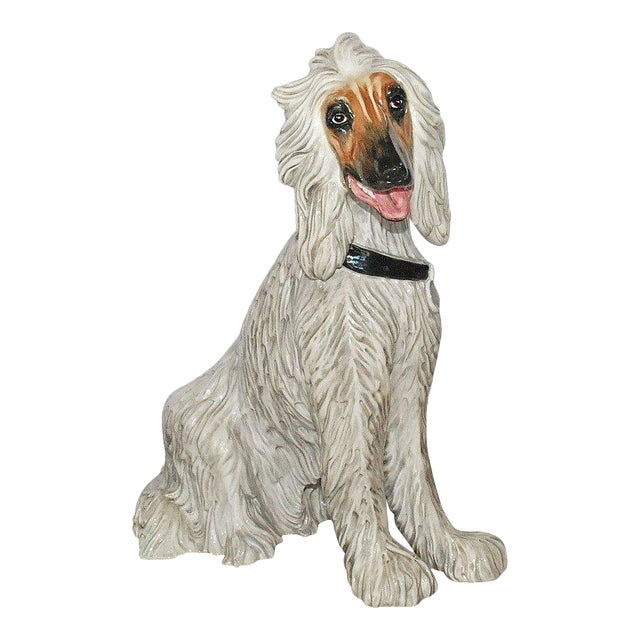 Vintage Italian Ceramic Dog Sculpture For Sale - Image 9 of 10