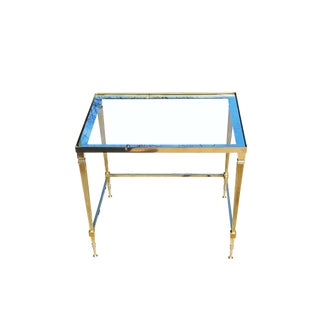 Neoclassical Maison Jansen Style Brass End Table / Side Table