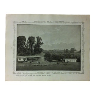 """1906 """"Distant View of Eton College - From the Great Western Railway"""" Famous View of London Print For Sale"""
