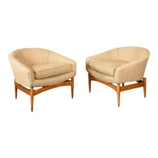 Lawrence Peabody Lounge Chairs - a Pair