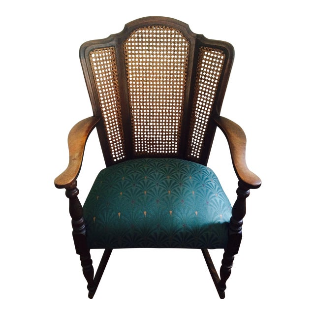 Vintage Upholstered Rocking Chair - Image 1 of 6