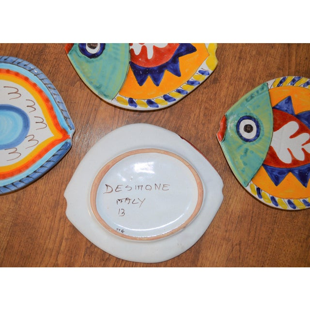 1980s Boho Chic DeSimone Terra Cotta Fish Plate For Sale - Image 11 of 13