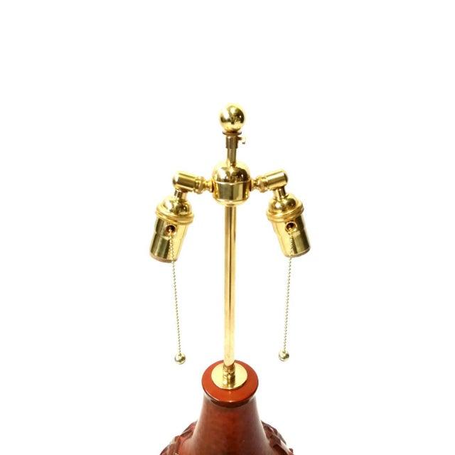 Brutalist Large Brutalist Pottery Lamp For Sale - Image 3 of 6