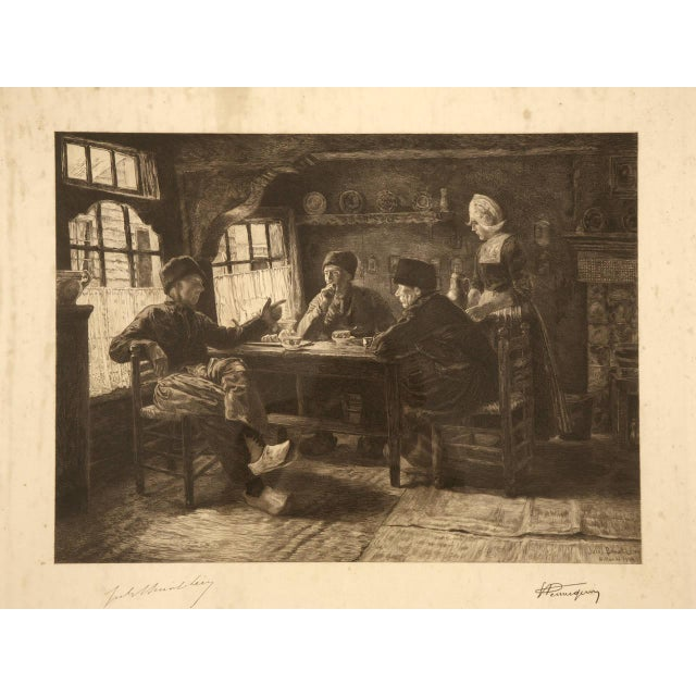 French Authentic Jules Benoit-Lévy Engraving For Sale - Image 3 of 11