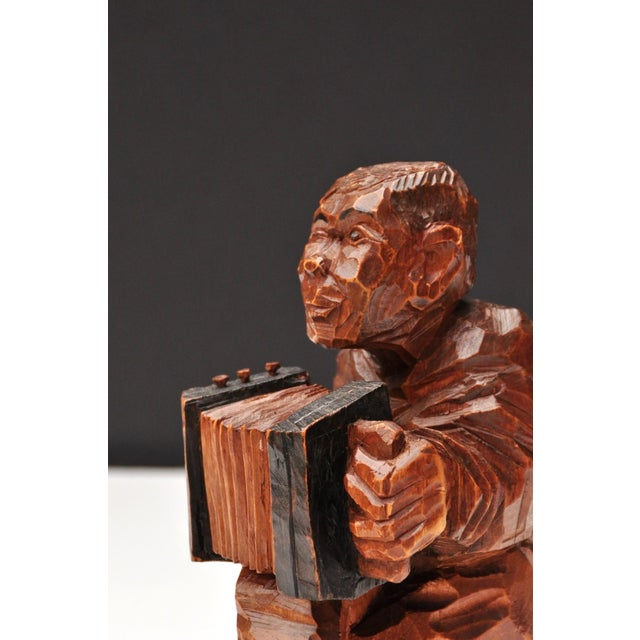 Accordion Player in German Expressionist Style For Sale - Image 10 of 11