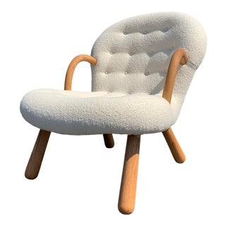 Philip Arctander Attributed Clam Armchair For Sale