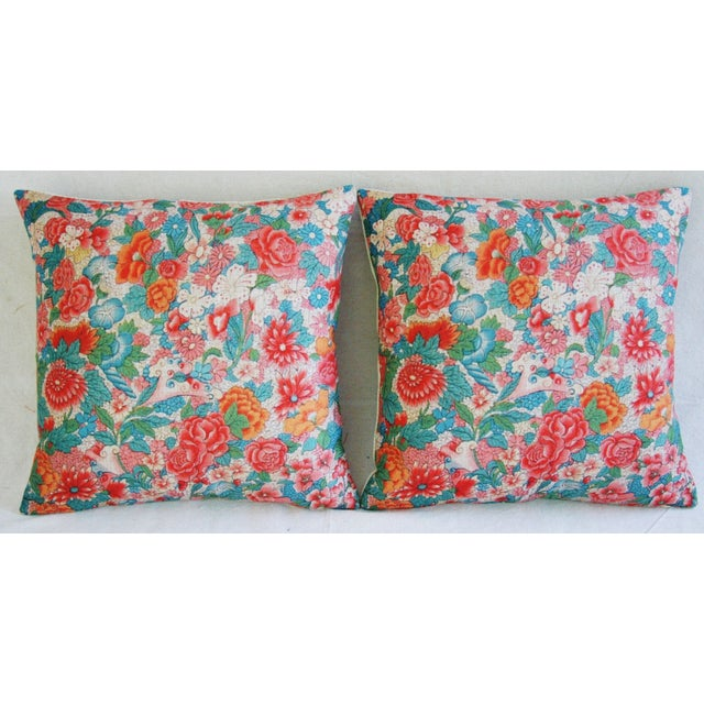 Sale! 4 Summer Floral Linen Pillow Covers - Set 4 - Image 9 of 9