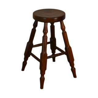 Wynnewood Woodworks Hand Crafted Solid Walnut Bar Stool For Sale