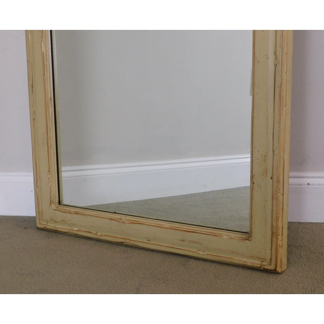 Woodland Furniture French Country Style Painted Wall Mirror For Sale - Image 11 of 12