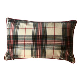 Custom Tartan Plaid Pillow For Sale
