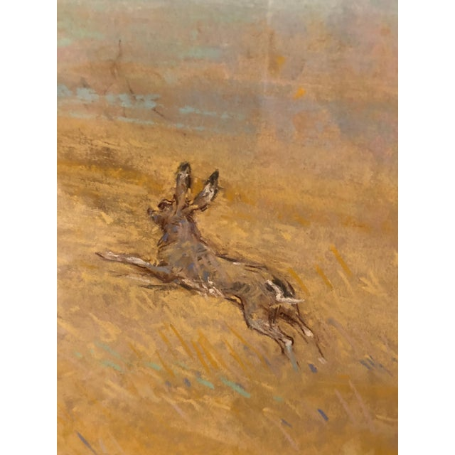 Romantic Pretty Pastel of Bunny Rabbits in a Pasture For Sale - Image 4 of 9