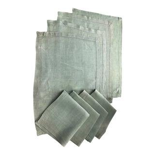 Linen Placemat & Napkin Set, 8 Pcs. For Sale
