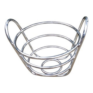 Lino Sabattini Silver Plate Basket For Sale