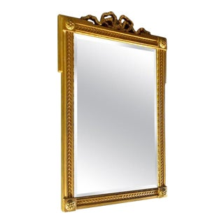 French Mid-20th Century Gold Painted Frame With Beveled Mirror Glass For Sale