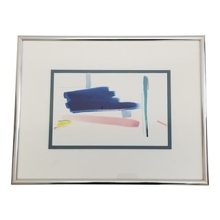 1980s Signed Barbara Cook Abstract Watercolor Painting For Sale