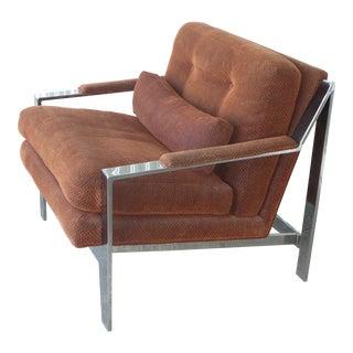 1970s Vintage Cy Mann Chrome Lounge Chair For Sale