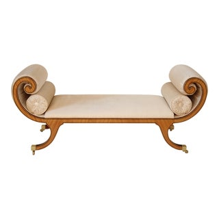 Neoclassic Satinwood Inlaid Bench