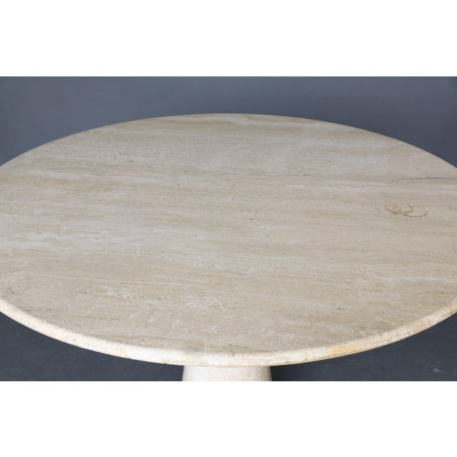 Mid Century Round Travertine Coffee Table - Image 3 of 9