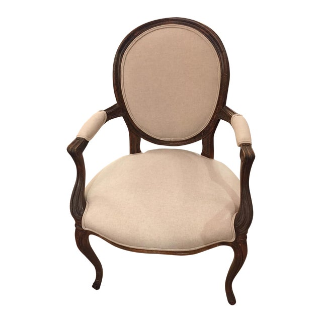 1920's French Dining Chairs With Arms - A Pair - Image 1 of 6