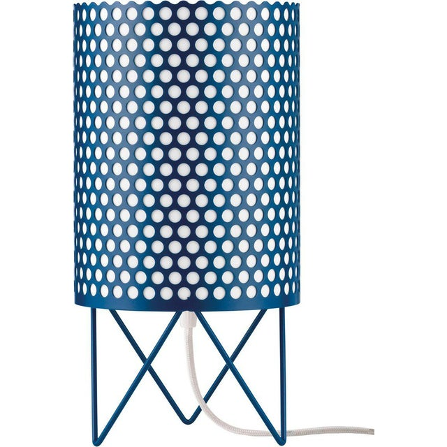 Mediterranean Mid-Century Modern Joaquim Ruiz Millet White Aluminum 'Abc' Table Lamp For Sale - Image 3 of 6