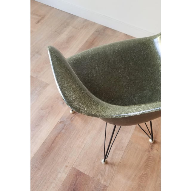Olive 1960s Olive Green Eames DAR Eiffel Chair For Sale - Image 8 of 13
