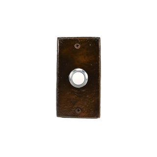Rectangle Lodgepole Pine Cone Doorbell, Traditional Patina For Sale