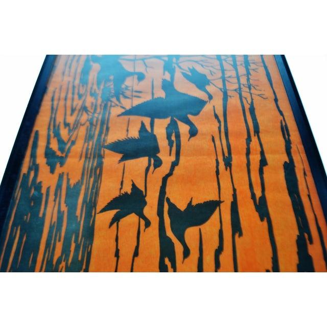 Vintage Orange Water Fowl Artwork - Image 8 of 10