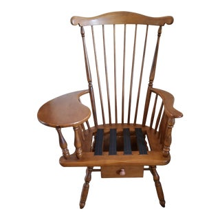 1960's Heywood Wakefield Maple Writing Chair