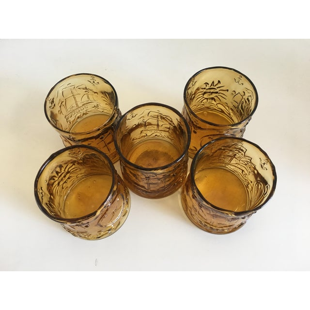 Vintage Italian Amber Glass Tumblers - Set of 5 - Image 9 of 9